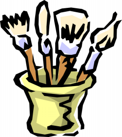 Artist's Paintbrushes - Vector Image