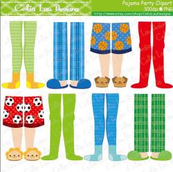 Pajama Party Clipart Boys Pajama Feet clipart by ...