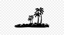 Palm Tree Silhouette clipart - Black, Tree, Silhouette ...