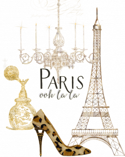 Paris - Ooh La La Fashion Eiffel Tower Chandelier Perfume Bottle T ...