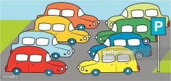 Parking Lot With Cars stock vectors - 365PSD.com