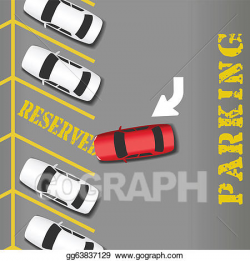 Car Parking Lot Clip Art - Royalty Free - GoGraph