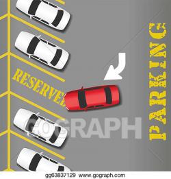 Car Parking Lot Clip Art - Royalty Free - GoGraph