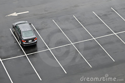 Empty Parking Lot Clipart