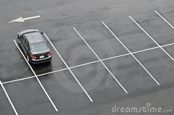 Empty Parking Lot Clipart