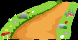 Download HD Dirt Road Clipart Cartoon - Pathway Clip Art ...