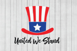 Free Patriotic SVG United We Stand SVG Cuttable File SVG ...