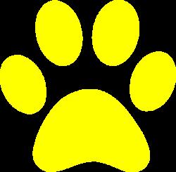 Yellow Paw Print Clip Art at Clker.com - vector clip art online ...