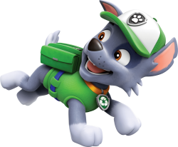 Rocky Running Paw Patrol Clipart Png
