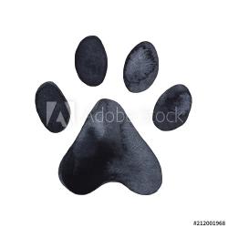 Dog or cat paw print graphic illustration. Cute animal ...