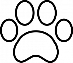 White Paw Print Svg Png Icon Free Download (#74469) - OnlineWebFonts.COM