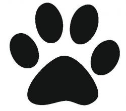 Best Photos of Paw Print Stencil Printable Free - Dog Paw ...