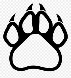 Polar Bear Habitat - Panther Paw Print Logo Clipart ...