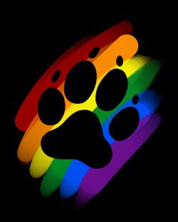 Rainbow paw print marker | Artworktee