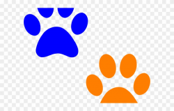 Well Clipart Paw Print - Small Orange Paw Print - Png ...