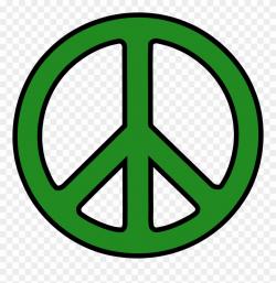 Cartoon Peace Sign Hand - Green Peace Sign Clipart (#410086 ...