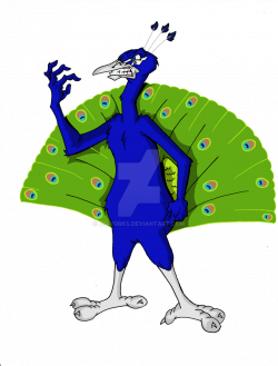 Angry peacock clipart free