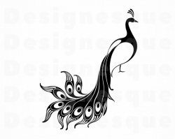 Peacock #2 SVG, Peacock SVG, Peafowl Svg, Peacock Clipart, Peacock Files  for Cricut, Peacock Cut Files For Silhouette, Dxf, Png, Eps, Vector