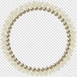 Round beaded beige and brown frame, Pearl frame, Pearl ...