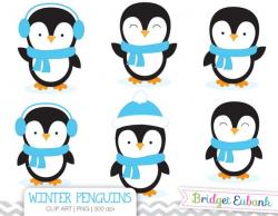Penguin Clipart, Boy Penguins Clipart, Baby Penguin Clipart, Blue Penguins,  Commercial Use, INSTANT DOWNLOAD