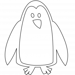 Penguin Black White Line | Clipart Panda - Free Clipart Images