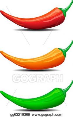 EPS Illustration - Three chillies peppers illustration ...