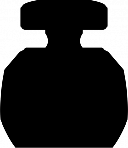 Circular Perfume Bottle With Rectangular Cover Svg Png Icon Free ...