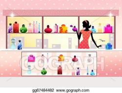 Stock Illustration - Perfume shop. Stock Art Illustrations ...