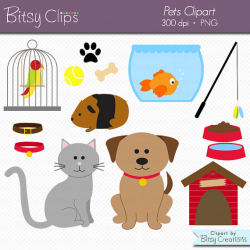 Pets Clipart Commercial Use Clip Art INSTANT Download Digital