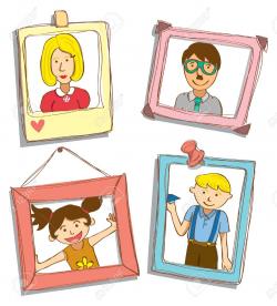 Cute Family Portrait Clipart