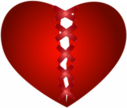 Sewn Broken Heart Transparent Clip Art Image | Gallery Yopriceville ...