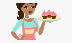 Pie Clipart Lady Baker - Boneca Com Bolo Desenho, Cliparts ...