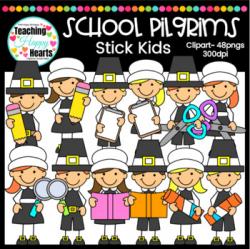 School Pilgrims Clipart