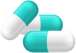 White and Blue Pill Capsules PNG Clipart - Best WEB Clipart
