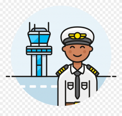 Captain Clipart Male Pilot - Cartoon - Png Download ...