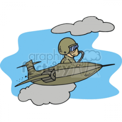 jet fighter pilot clipart. Royalty-free clipart # 172047