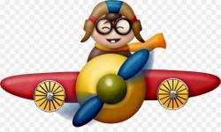 Cartoon Airplane With Pilot PNG Airplane Aircraft Pilot ...