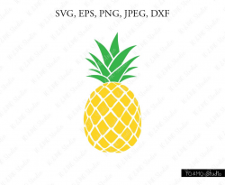 Pineapple SVG Pineapple Clipart Pineapple print SVG SVG
