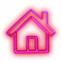 neon light pink house freetoedit - Sticker by