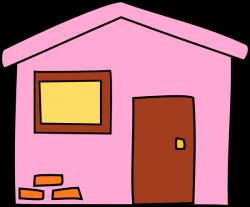Pink House 3 Clip Art at Clker.com - vector clip art online, royalty ...