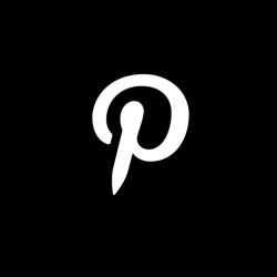 Pinterest Black & White Icon, Pinterest, Social, Media PNG and ...