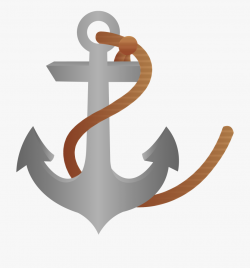 Ship Anchor With Rope - Free Anchor Clipart Png #154075 ...