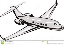 Commercial Plane Clipart