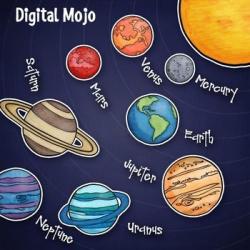 Solar System and Planet Clipart | Pinterest | Solar system, Dark ...
