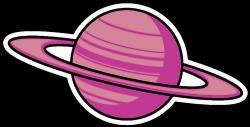 saturn planet tumblr sticker