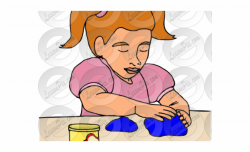 Playdough Cliparts - Child Playing With Play Dough Clipart ...