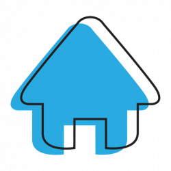Home blue house icon - Transparent PNG & SVG vector