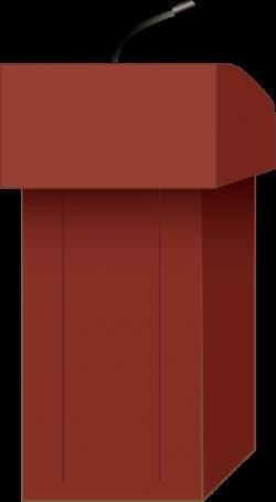 Clipart - Speaker's podium