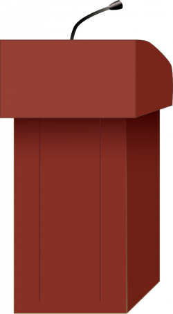Speakers Podium Clipart | i2Clipart - Royalty Free Public Domain Clipart