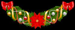 Christmas Garland Santa Claus Clip art - Christmas Pine Deco ...